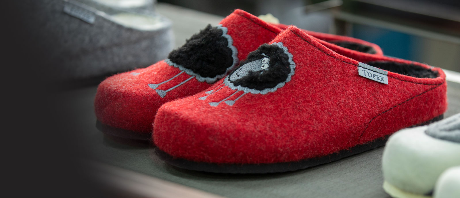 tofee about us banner home slippers